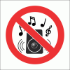 PV36N - No Loud Music Safety Sign