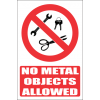 PR47E - No Metal Objects Explanatory Sign