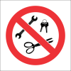 PR47 - No Metal Objects Sign