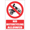 PR18E - No Motorcycling Explanatory Sign