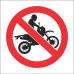 PR18 - No Motorcycling Sign