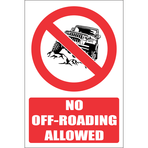 PR11E - No Off-Roading Explanatory Sign