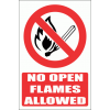 PV2E - No Open Flame Explanatory Safety Sign