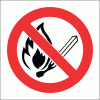 PV2 - No Open Flame Safety Sign