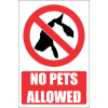 PR32E - No Pets Explanatory Sign