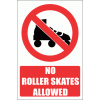 PV37E - No Roller Skates Safety Signs