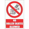 PV37EN - No Roller Skates Safety Signs