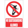 PR15E - No Skateboarding Explanatory Sign