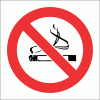 PV1 - No Smoking Safety Sign