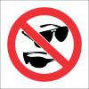 PR48 - No Sunglasses Sign