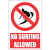 PR24E - No Surfing Explanatory Sign