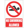 PV24E - No Swimming Safety Sign