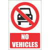 PV16E - No Vehicles Explanatory Safety Sign