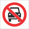 PV16 - No Vehicles Safety Sign