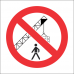 PR45 - No Walking Under Cranes Sign