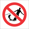 PR9 - No Water Skiing Sign