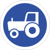 R130 - Agricultural Vehicles Only Road Sign