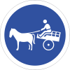 R131 - Animal Drawn Vehicles Only Road Sign