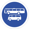 R134 - Busses And Mini Busses Only Road Sign