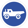 R125 - Construction Vehicles Only Road Sign