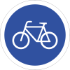 R111 - Cyclists Only Road Sign