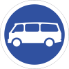R119 - Mini Buses Only Road Sign