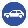 R117 - Motor Cars Only Sign