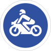 R116 - Motorcycles Only Sign