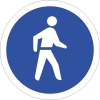 R110 - Pedestrians Only Road Sign