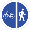R113 - Cyclists And Pedestrians Only Road Sign
