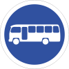 R120 - Midi-Busses Only Road Sign