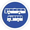 R135 - Busses And Midi-Busses Only Road Sign