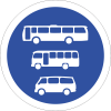 R136 - Busses, Midi-Busses & Mini-Busses Only Road Sign