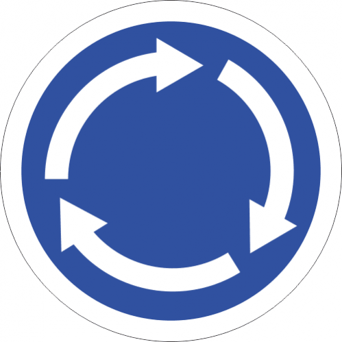 R137 - Roundabout Sign Road