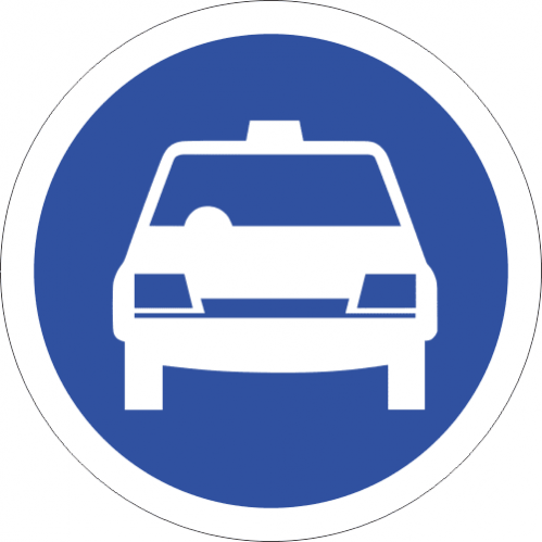 R118 - Taxis Only Road Sign