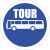 R129 - Tour Buses Only Road Sign