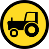 TR130 - Temporary Agricultural Vehicles Only Road Sign