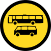 TR134 - Temporary Busses And Mini Busses Only Road Sign