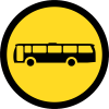 TR121 - Temporary Busses Only Road Sign