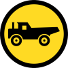 TR125 - Temporary Construction Vehicles Only Road Sign