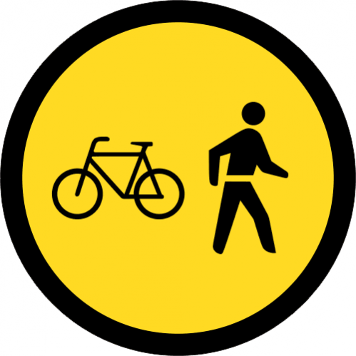 TR112 - Temporary Cyclists And Pedestrians Only Road Sign