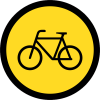 TR111 - Temporary Cyclists Only Road Sign