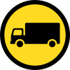 TR123 - Temporary Goods Vehicles Only Road Sign