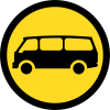 TR119 - Temporary Mini Busses Only Road Sign