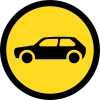 TR117 - Temporary Motor Cars Only Road Sign