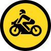 TR116 - Temporary Motorcycles Only Road Sign