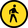 TR110 - Temporary Pedestrians Only Road Sign