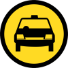 TR118 - Temporary Taxis Only Road Sign