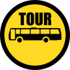 TR129 - Temporary Tour Busses Only Road Sign