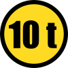 TR102 - Temporary Vehicles Exceeding Mass Only Road Sign